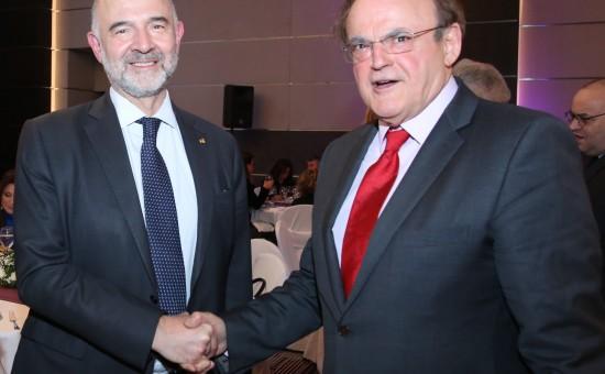 O Pierre MOSCOVICI συναντήθηκε με τον πρόεδρο του New York College Educational Group