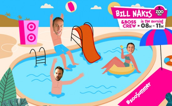 Bill Nakis and the Boss Crew in the morning