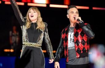 O Robbie Williams τραγούδησε στην συναυλία της Taylor Swift
