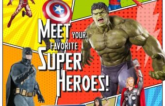 Meet your favorite Superheroes @ Mediterranean Cosmos